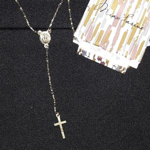 Jewelry - NEW Luxury Sterling Silver Rosary Cross Necklace